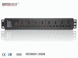 Oxp-1.5u hoge Universele Contactdoos Quanlity met 8-manier Schakelaar PDU
