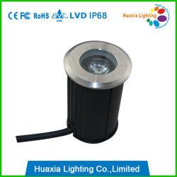 IP68 1W Mini LEIDEN van het Roestvrij staal Ondergronds Licht
