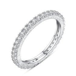 Moda 925 Joyería de Plata anillos de dedo CZ