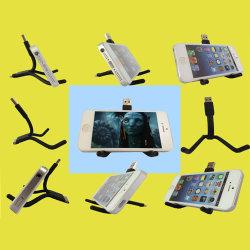 立場のくねりの小枝のマイクロ照明8 PinのiPhoneのSamsungギャラクシーHTC人間の特徴をもつ移動式携帯電話のための速い充電器ケーブルUSBのホールダーケーブル