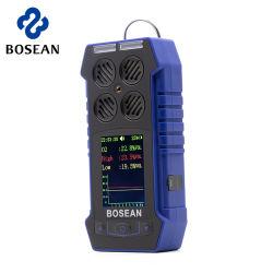 4 Gase in 1 Warnung entdecken Warnungs-Detektor-beweglichen multi Gas-Detektor