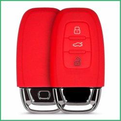 Aprovisionamento de fábrica de alta qualidade em silicone borracha carro tampa da chave para a Audi