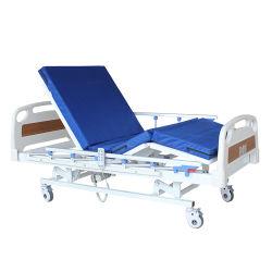 Residencias de altura ajustable tres funciones de alta, baja médica del paciente de la Clínica Hospital cama eléctrica