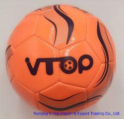 Bright Orange PVC/PU Matériau Machine Soccerball cousu Taille 5