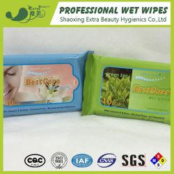 Commerce de gros bon marché de nettoyage biodégradables Pocket lingettes humides tissus humides de voyage