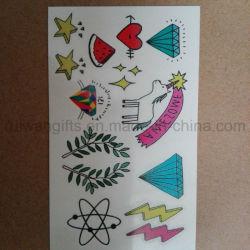 Custom мультфильм дети Tattoo, временные татуировки на продукты питания сувениры