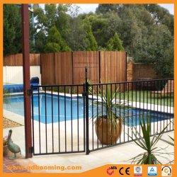 Dessus plat recouvert de poudre d'aluminium Panneau de clôture de piscine