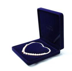 El alto grado de Flannelette Heart-Shaped Box Collar de perlas, Joyero de plástico con su logotipo estampado