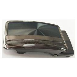 Personalizar Aleación de zinc Niquelado Sequin negro Hebilla del cinturón de diseño