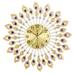 Relógio de parede de metal & Peacock Relógio para decoração