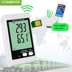 冷たい鎖の倉庫GSM SMSアラームLCD温度の湿気データ自動記録器