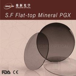 1.523 Pgx Flat-Top Semi-Finished Mineral lente óptica