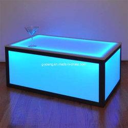 Hoogwaardige LED-tafellamp voor buiten kunststof barenset meubilair voor buiten