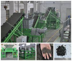 Wire-Free pajote de goma para todo el sistema de reciclaje de llantas