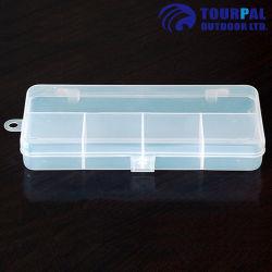 5 células de la caja de plástico de aparejos de pesca señuelo con el medio ambiente Caja de material PP