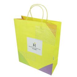 2018 горячие продажи нового типа Custom напечатано крафт-бумаги ручной переноски магазинов женская сумка с бумаги в Китае оптовая торговля