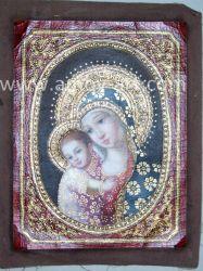De met de hand gemaakte Klassieke Heilige Antieke Olieverfschilderijen van het Canvas Mum