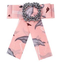 水晶は前に結ばれた弓形式的な結婚披露宴の安いちょうネクタイの方法ファブリックちょうネクタイのブローチをぶら下げる