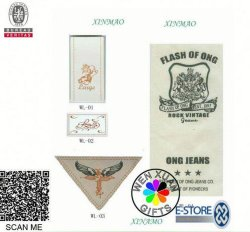 Custom Brand Garment Woven water Label Logo Damask MOQ 1000 Stuks 100 USD