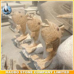 Escultura estatua de granito Animal Goldfish