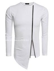 Высокое качество моды повседневный стиль одежды мужчин длинной втулки T футболка