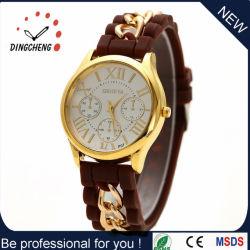 Горячие продажи силиконового герметика женщин смотреть при работающем двигателе переместить Diamond силиконовый браслет кварцевые часы