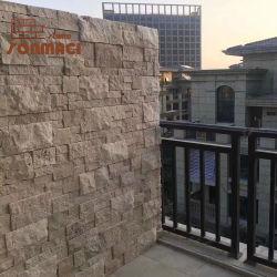 ベージュTravertineの自然な石塀のクラッディングのスレート