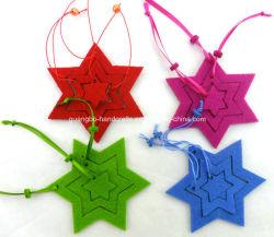 Cores Personalizadas Xmas Árvore de Natal Decoração Feltro cabide