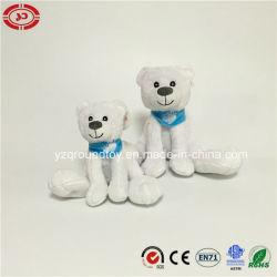 Het zittende Witte Stuk speelgoed van Kerstmis van Nice van de Ijsbeer van de Pluche Douane Gevulde
