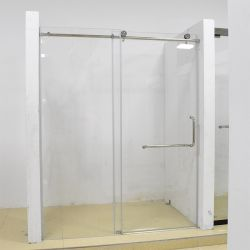 Cuarto de baño pequeño efecto de Plata 1400 mm puerta corredera las Puertas de ducha