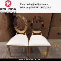 Dos arrondi or banquet de mariage de chaise en acier inoxydable chaise de salle à manger