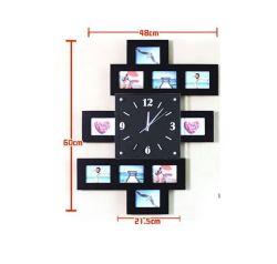 Деревянные декоративные настенные часы Творческий режим Picture Frame Mute электронные часы подарки