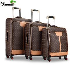 Chariot d'affaires de la mode avec les Bagages Les bagages de voyage en cuir défini