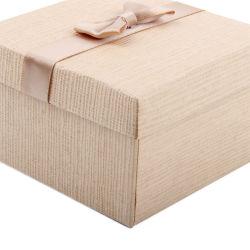 Papel da linha de cores misturadas Assista a caixa Exibir Tie Bracelete abrangidos caso Caixa de jóias com várias almofadas
