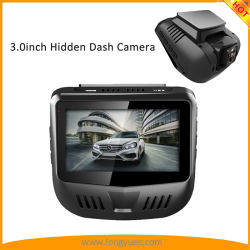 GPSの組み込みの手段運転のレコーダーが付いている最も新しい3.0inch 1296p車のカメラ