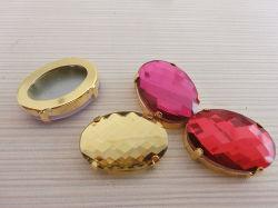 平背の楕円形の形のガラス水晶は宝石類に玉を付ける