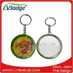 Heißes kundenspezifisches Spiegel-Zinn-Tasten-Abzeichen für Keychain