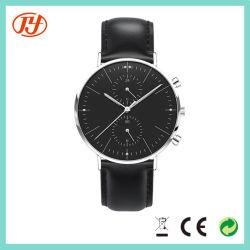 Commerce de gros logo personnalisé en cuir étanche Chrono Japon quartz watch