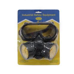 Máscara de gás respirador facial completo com óculos de segurança em GUANGZHOU