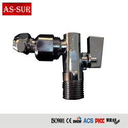 Yuhuan Professional Angle Valve Water Brass Stop Valve with Drain, 1/2인치 X 3/8인치 A1301