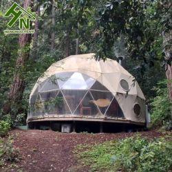 Dôme de luxe préfabriqués tente de camping chambre avec cuisine à l'intérieur