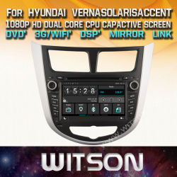 Voiture Witson DVD pour Hyundai voiture GPS DVD Solaris
