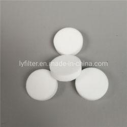 Ventilación Anti-Explosion Cyclinder Inserte el disco de batería de almacenamiento de plástico poroso PE Discos Filtro de PTFE
