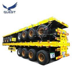 Búsqueda del eje 340ft a 20 pies de contenedor de carga plana semi remolque Venta