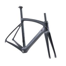 700c de fibra de carbono ligero de bicicleta de carretera bicicletas de carreras con horquilla y tija Frameset
