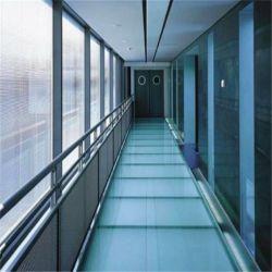 Produit de sécurité Double vitrage au plancher de verre stratifié en brique de verre trempé