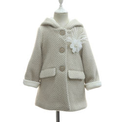 De uitstekende kwaliteit breit de Kleren van de Overjas van de Winter van het Bont voor het Jasje van de Winter van Jonge geitjes met Gerichte Met een kap