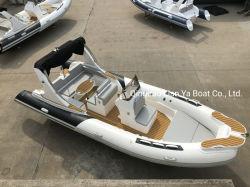 Liya 22FTの贅沢なヨットの堅い最下の膨脹可能なボートの速度のボート