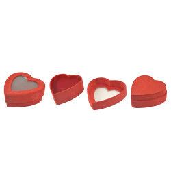 Promoción de la boda regalos de joyas en forma de corazón Caja de plástico