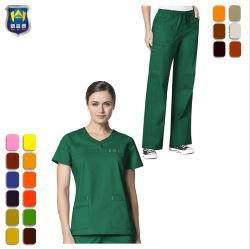 OEM Custom Nurding confortables Hospital Medical infirmière ensemble uniforme de nettoyage